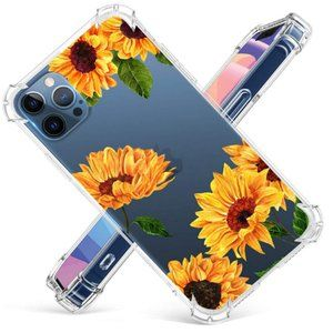 iPhone 12 Pro Max Clear Sunflower Phone Case